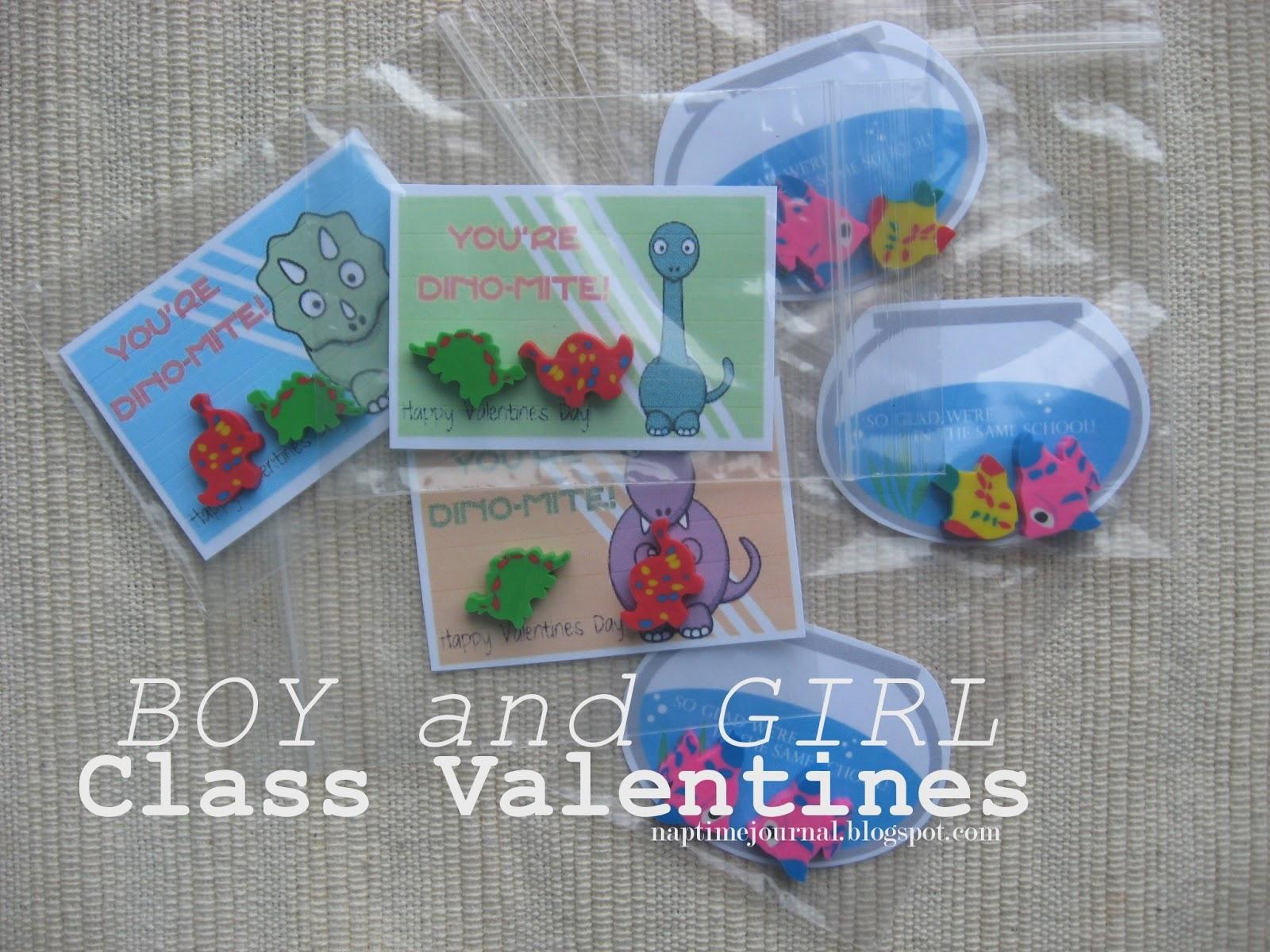 boy and girl classroom valentines - Valentines For Kindergarten Class