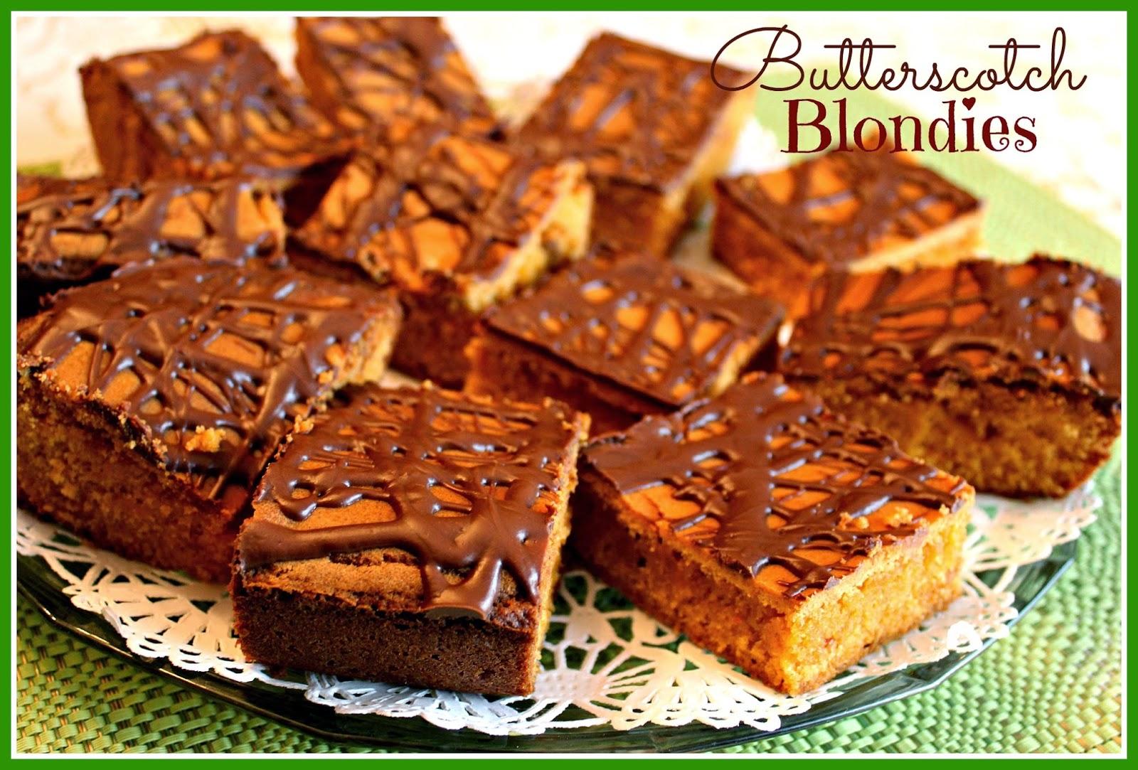 Sweet Tea and Cornbread: Butterscotch Blondies!