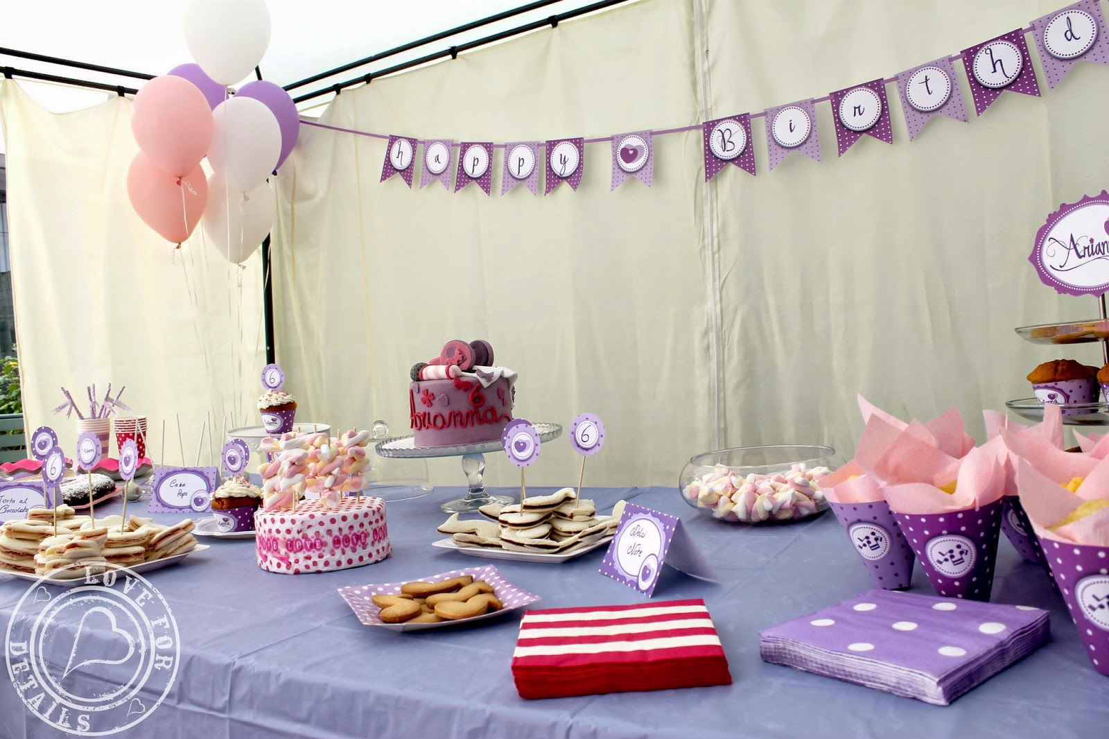 Festa tema violetta