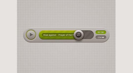 Audio Player – psd