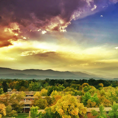 Fall in Fort Collins viewed from the Hilton Fort Collins Colorado