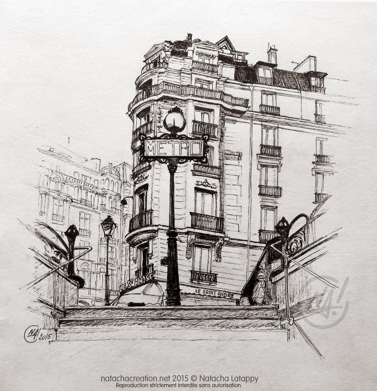 Le blog de na dessin en live le m tro saint michel paris - Metro saint michel paris ...