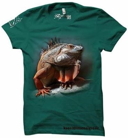 kaos 3d iguana