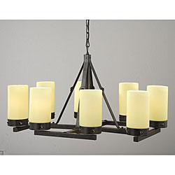 Pottery barn veranda round chandelier decor look alikes antique bronze linear 8 light chandelier mozeypictures Images