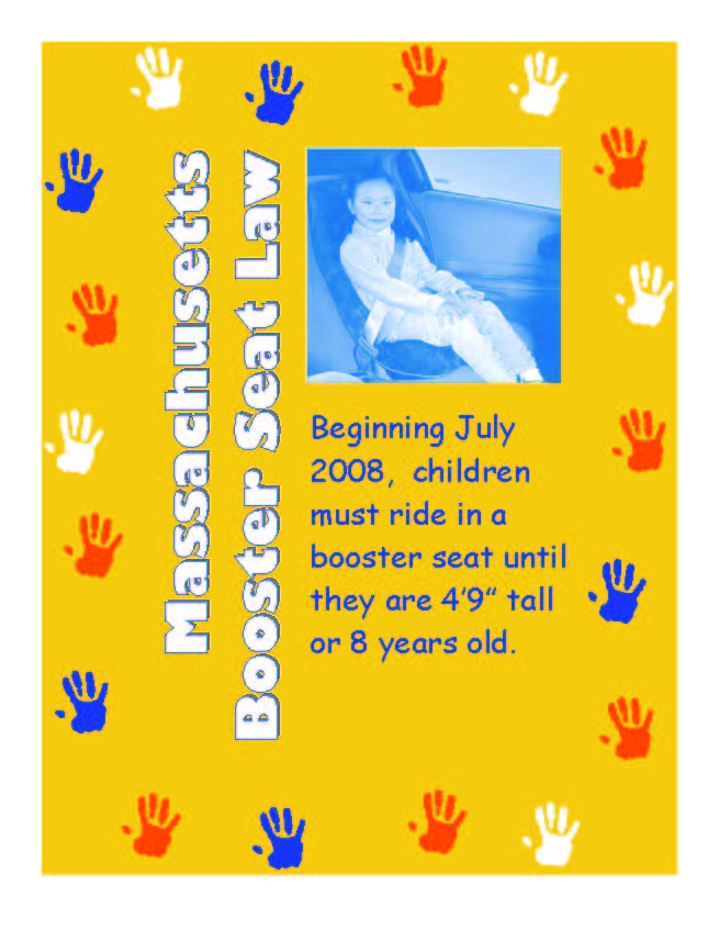 safe kids of western mass reminder mass booster seat law. Black Bedroom Furniture Sets. Home Design Ideas