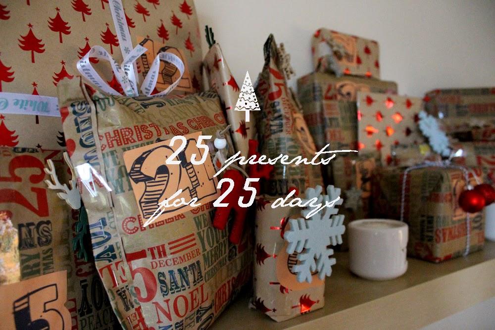 25 presents, christmas morning, christmas magic, todaymyway.com