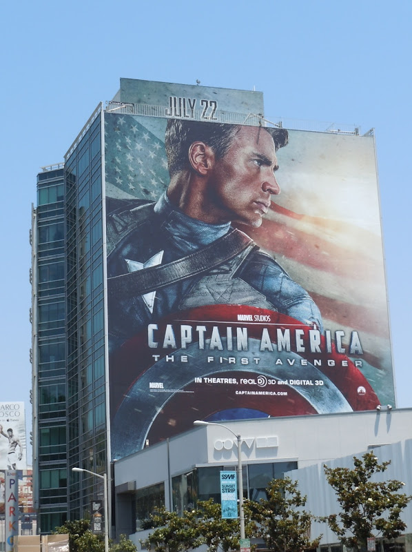 Captain America First Avenger billboard