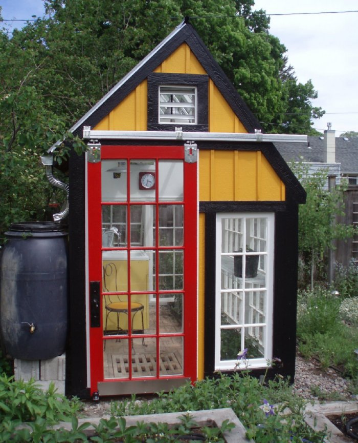 Cabin Made With Windows : Relaxshacks salvaged window greenhouses cabins n