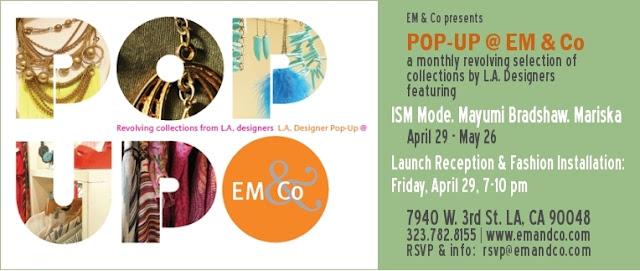 EM and Co. Pop-up Event