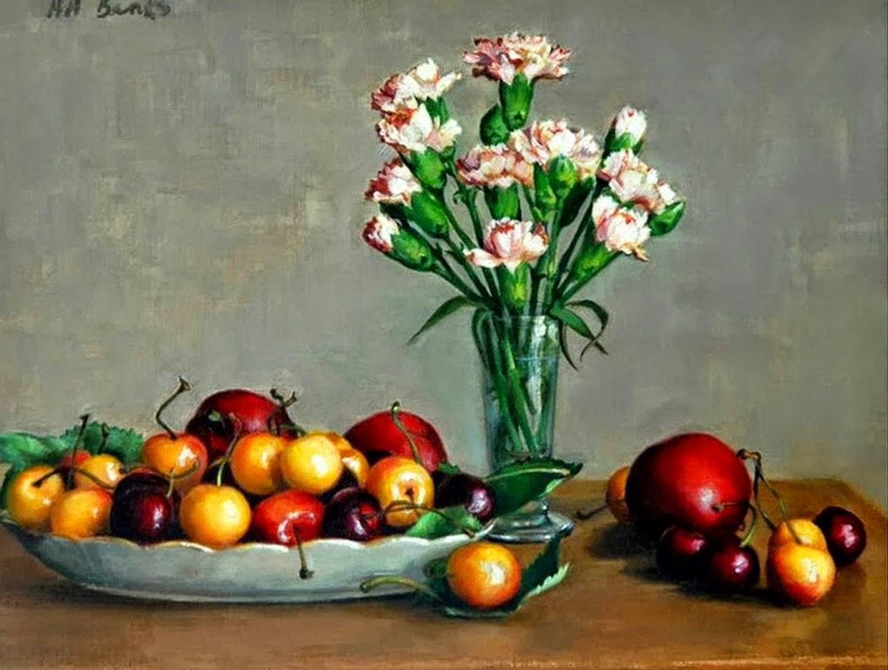 Cuadros modernos pinturas y dibujos l minas de flores - Fotos jarrones con flores ...