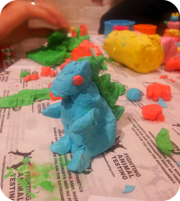 playdough dinosaur, lush fun