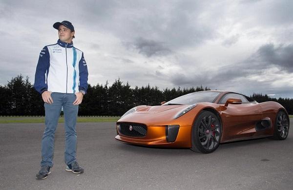 Felipe Massa se dio el gusto de manejar el Jaguar C-X75 de Spectre (video)