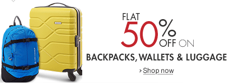 Amazon : upto 70% off on Luggage, wallets & Bags : BuyToEarn