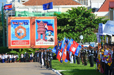 Honor Guard at birthday celebration of King Sihanouk of Cambodia