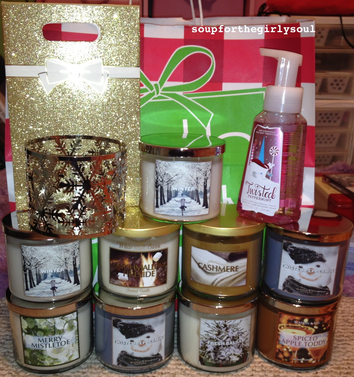 soup for every girl 39 s soul bath and body works candle haul. Black Bedroom Furniture Sets. Home Design Ideas