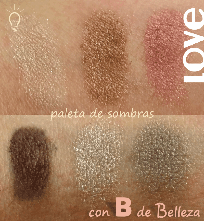 Swatches paleta Love