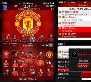 Tema Manchester United FC untuk BB 8520
