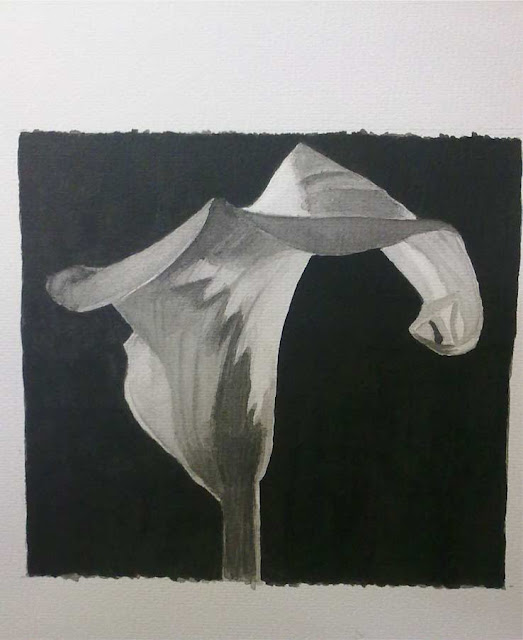 flores dibujadas con tinta