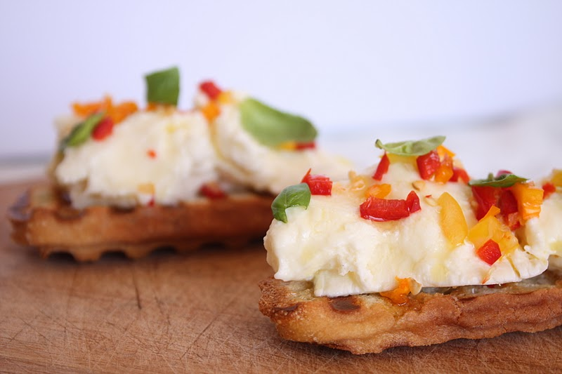Vanilla Clouds and Lemon Drops: Mozzarella & Chilli Bruschetta