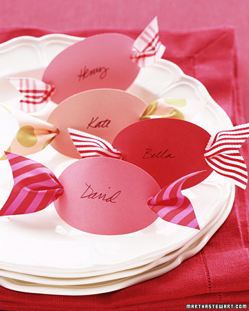 Martha Stewart and her staff came up with DIY place cards that resemble