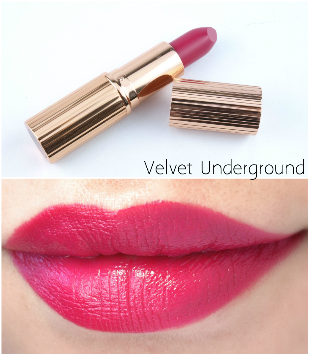 "Charlotte Tilbury K.I.S.S.I.N.G Lipstick in ""Velvet Underground"": Review and Swatches"