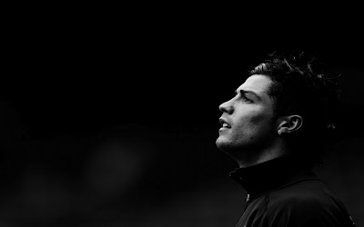 Chiristiano Ronaldo Black and White Photo HD Desktop Wallpaper