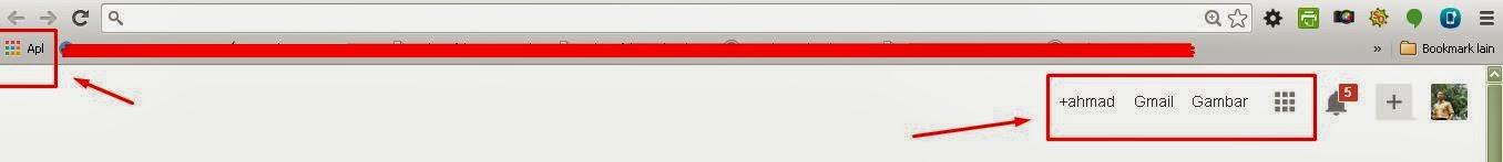 Penambahan ikon penampil aplikasi pada pojok kiri dan pojok kanan atas.