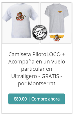CAMISETA 89Eur + VUELO GRATIS