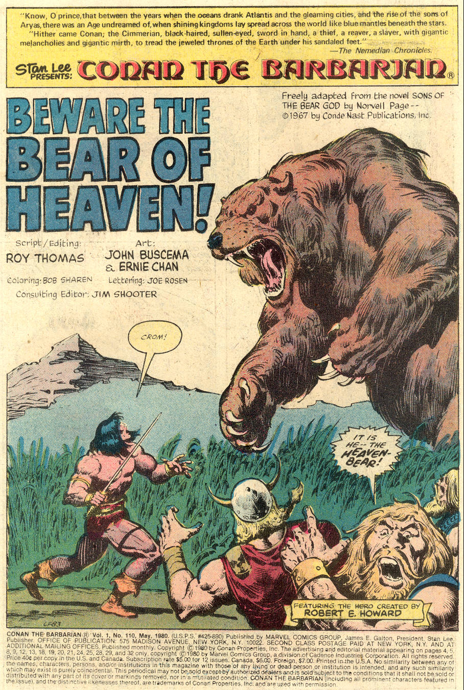 Conan the Barbarian (1970) Issue #110 #122 - English 2
