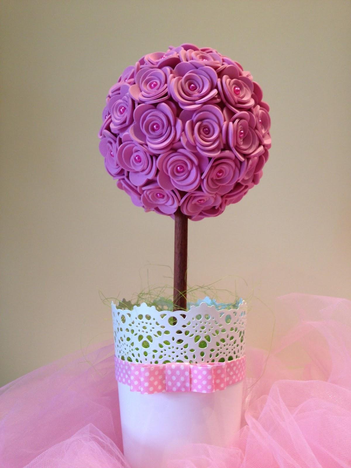 flores feitas com eva Baidu