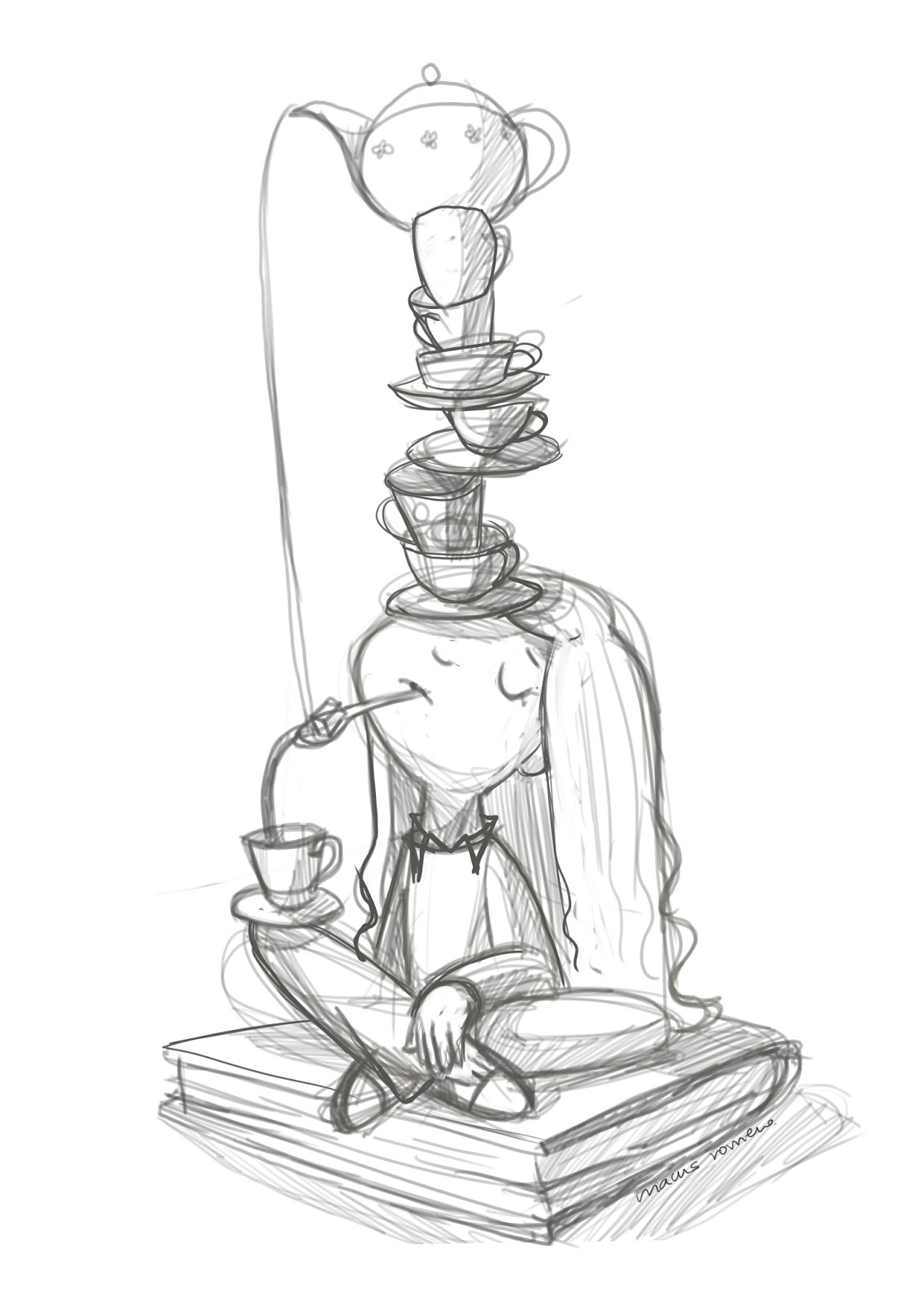 ilustracion infantil digital cafe