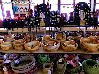 50000 Silver Dollar Bar Review, located in Haugan Montana. Picture showing bowls, baskets and hair straps. Night Sea 90