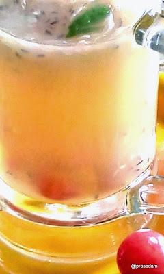 Pummelo Sugarcane Juice Punch - Batabi Lebu and Akher Rosh