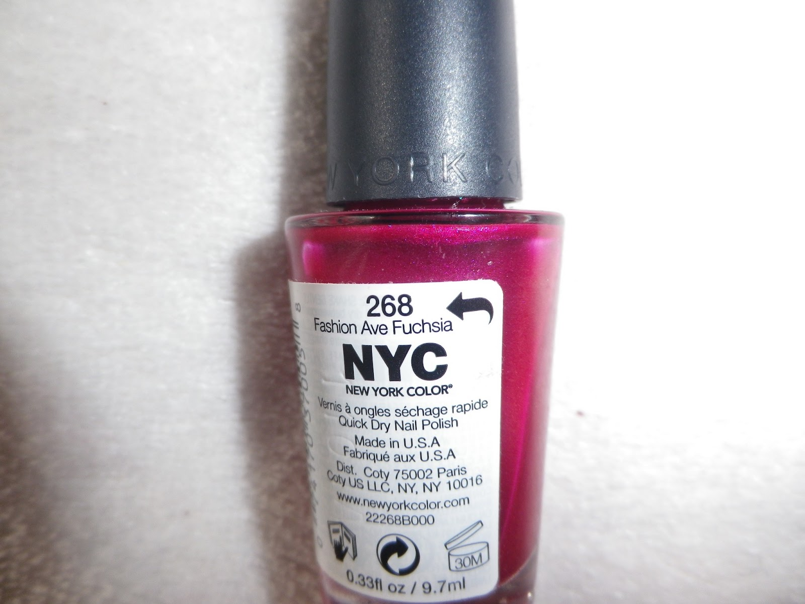 Masquerade Belle: Nail Of The Day ♥ Fashion Ave Fuchsia