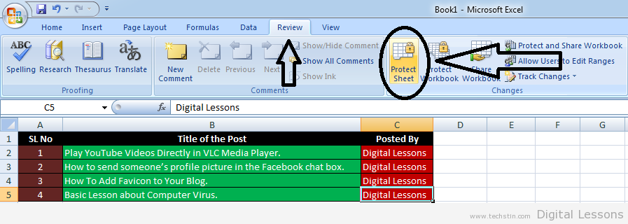 Digital lessons how to create password protected excel worksheet or a pop up window will appear select your options and type the password any thing you can type as passwordbut dont forget the given password ibookread