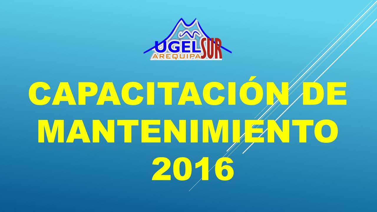 DOCUMENTOS DE MANTENIMIENTO 2016