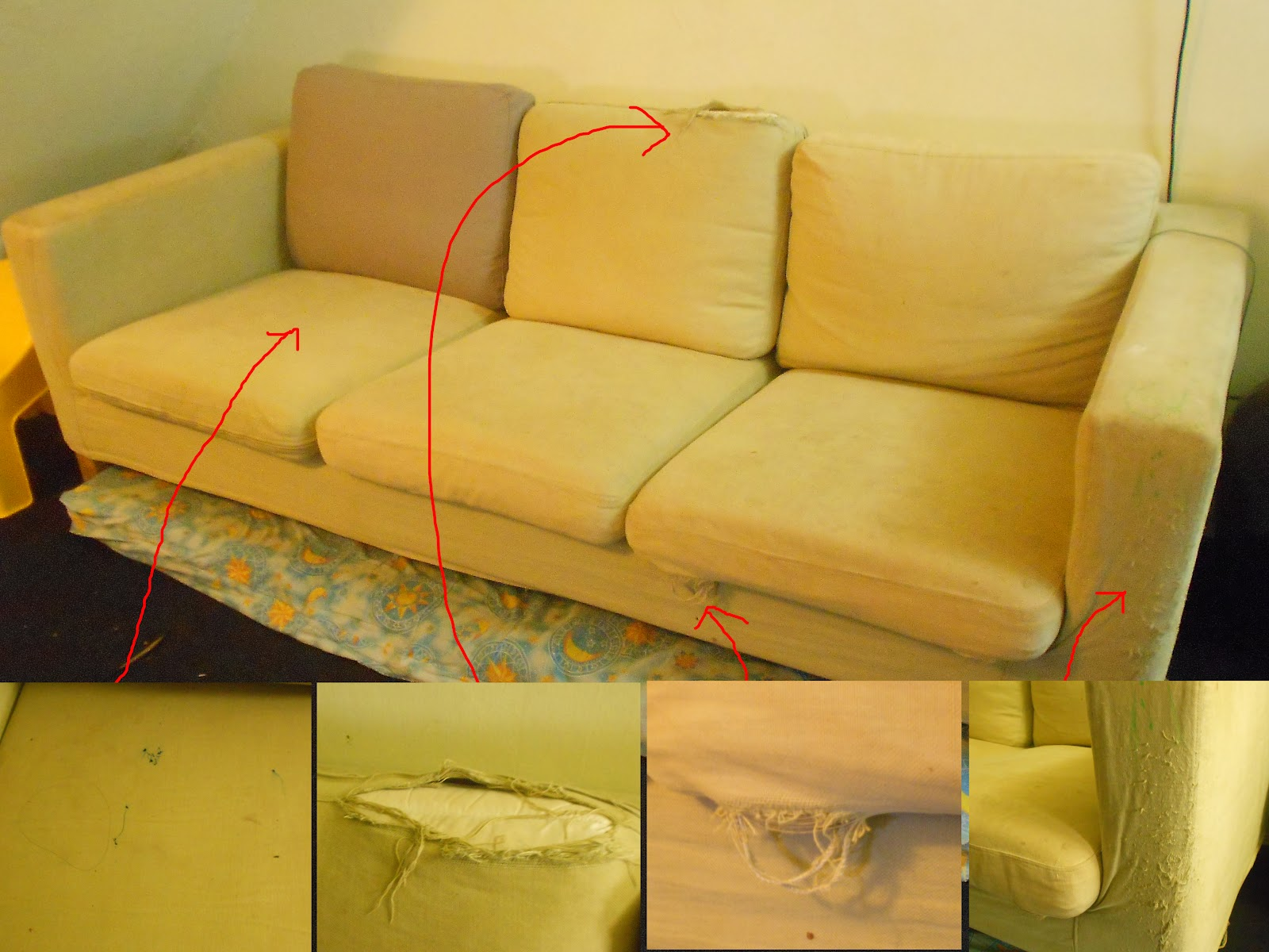 the old sofa dont freak out about the mattress underneath the sofa