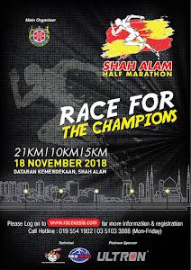 Shah Alam Half Marathon 2018 - 18 November 2018