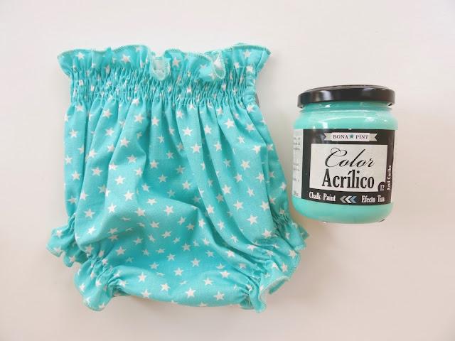 Bodys para bebés personalizados con chalk paint.