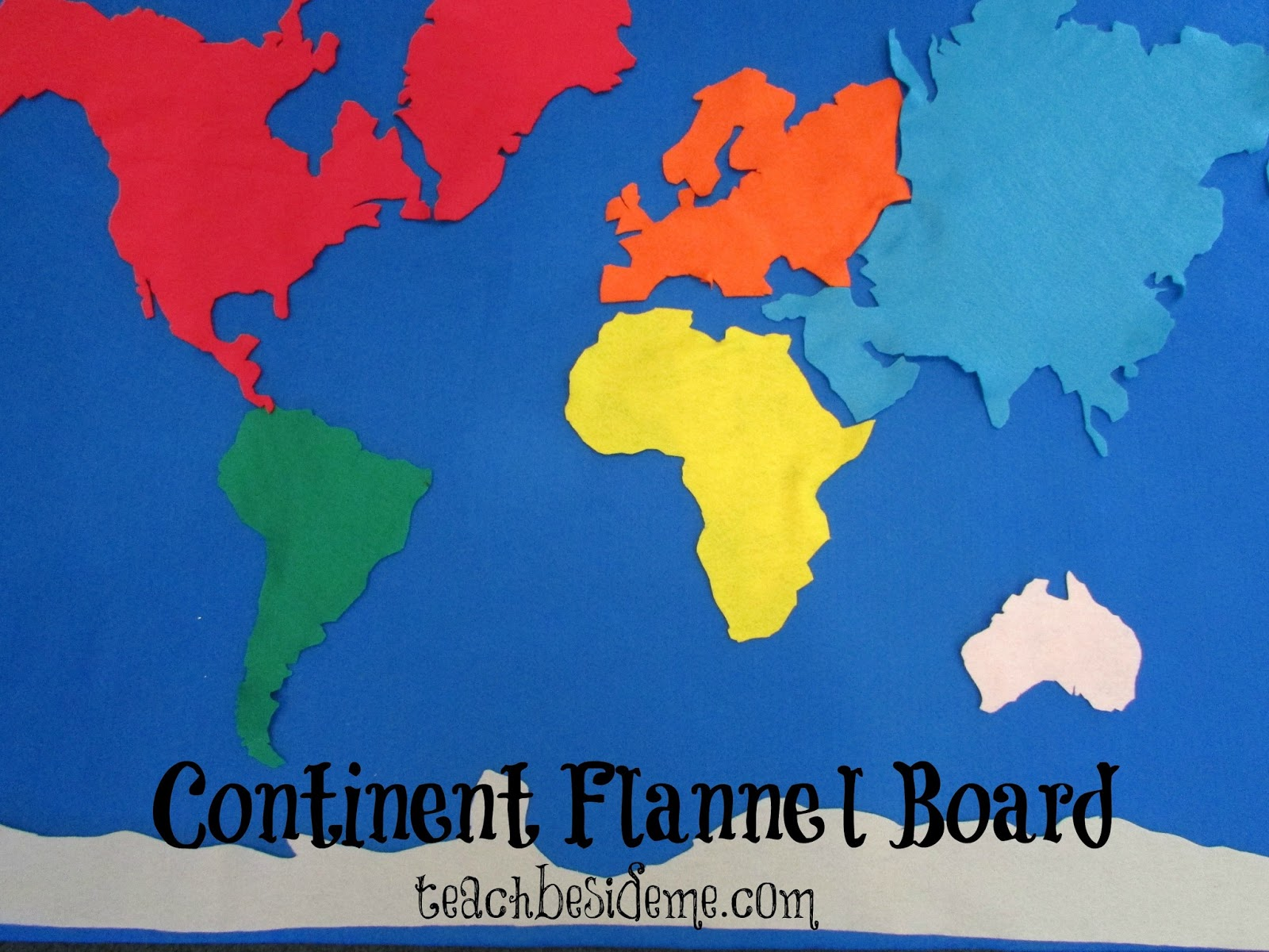 C Is For Continent Felt Board Geography Projects A Z