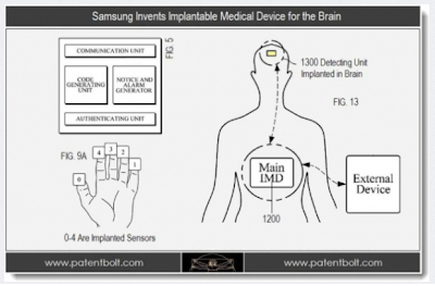 Controle da besta: Samsung lançará celular com chip RFID implantado na CABEÇA