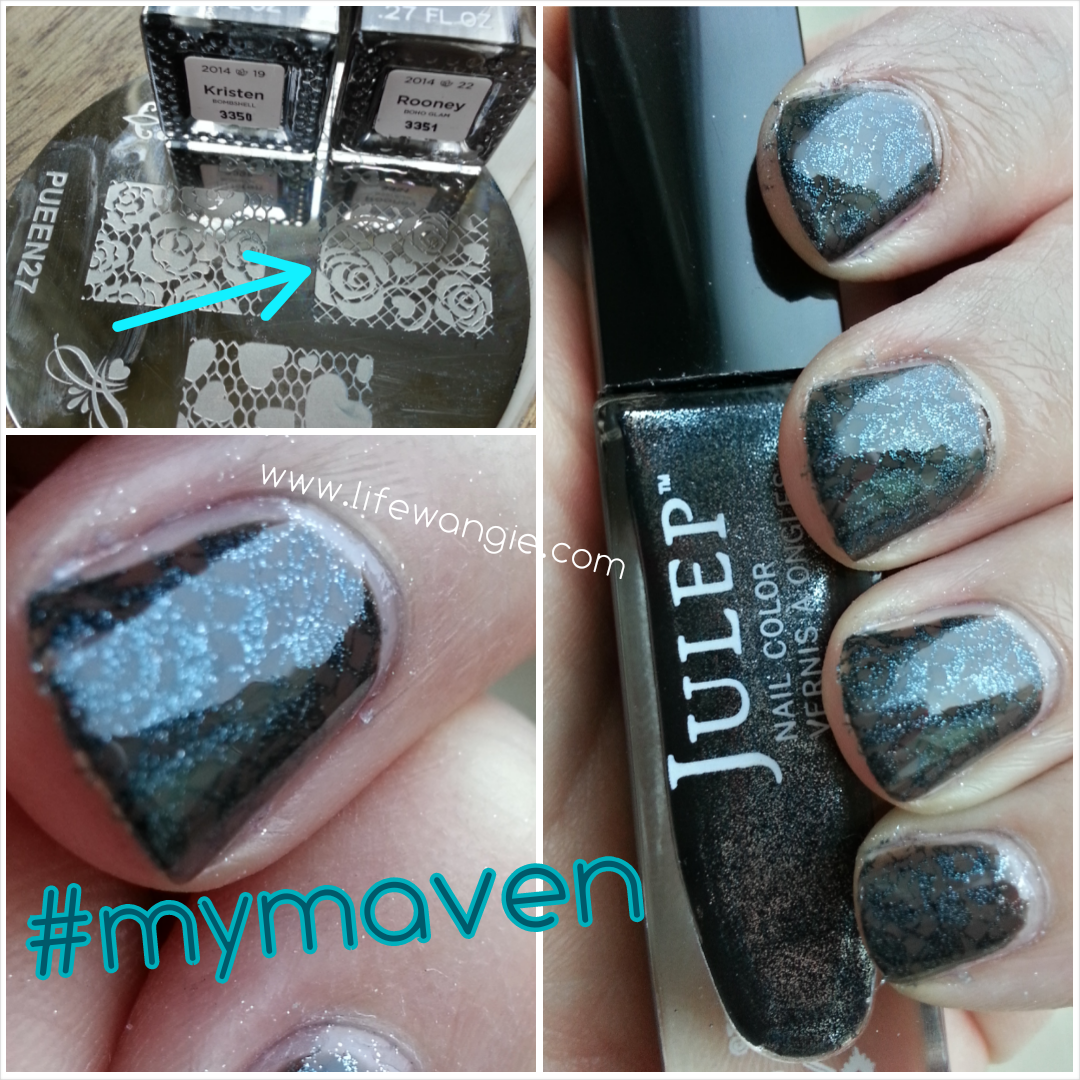 Stamped mani with Julep Rooney and Kristen