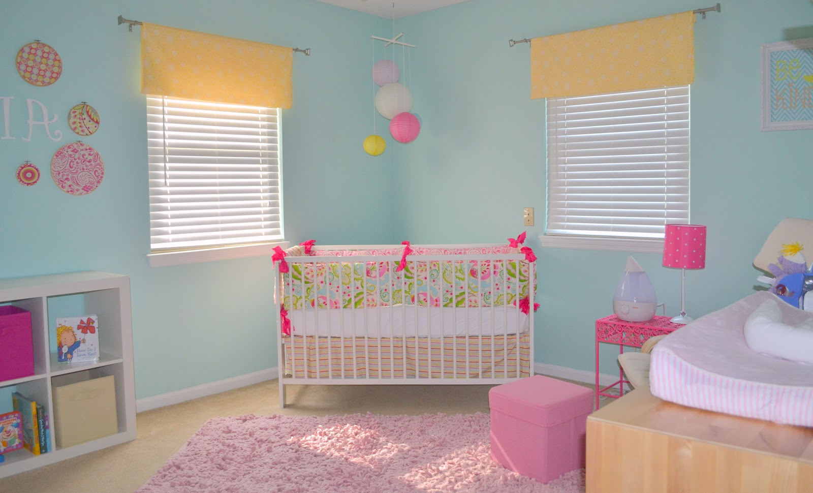 Lacefields in love baby girl 39 s nursery reveal - Girl room colors paint ...