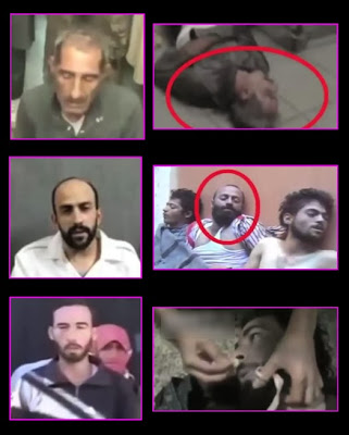 Prisoners of Syria's rebels: apparently appear as civilians as victims of gas attack