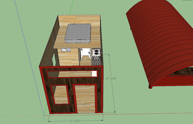 Sweatsville 39 little red 39 8 39 x16 39 cabin Bathroom blueprints for 8x10 space