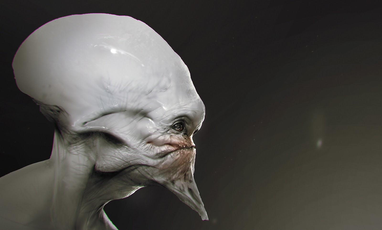 Cgi alien creature naked clips
