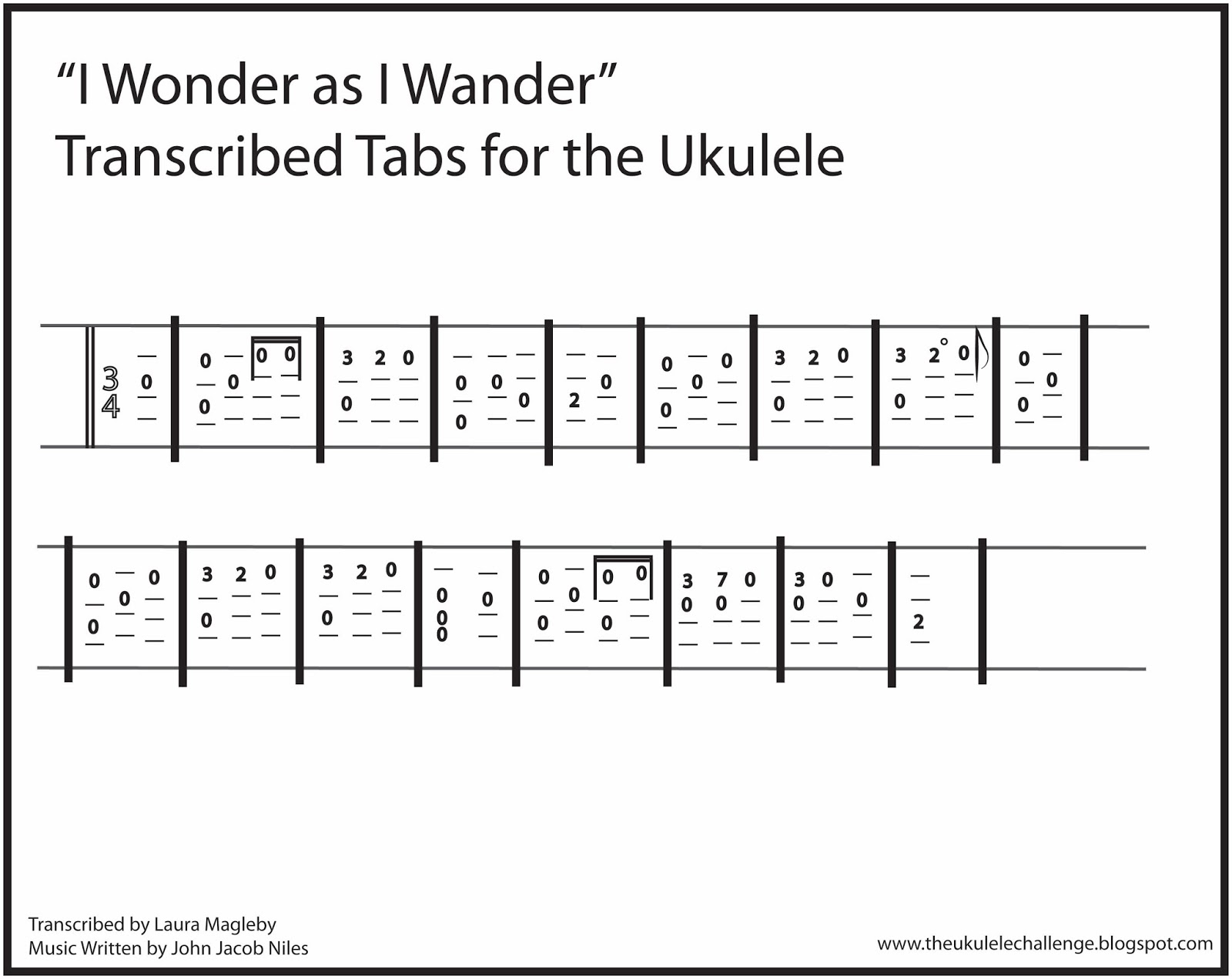 The ukulele challenge january 2016 you are welcome to have this picture of the tabs and print it out to practice this song on your own i hope you enjoy playing we three kings hexwebz Gallery