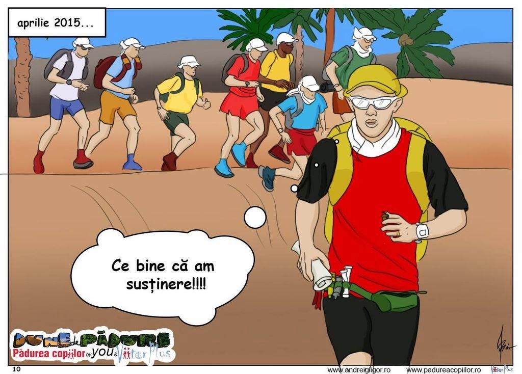 Andrei Gligor aleargă la Marathon des Sables pentru Pădurea Copiilor. Dune de Pădure. ViitorPlus. Susţinere