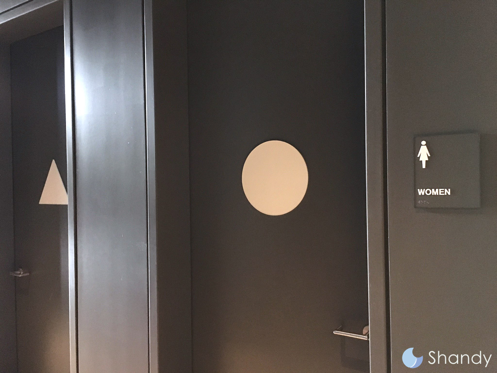 Bathroom Signs Circle And Triangle toilet signs design: the beauty of simple shapes