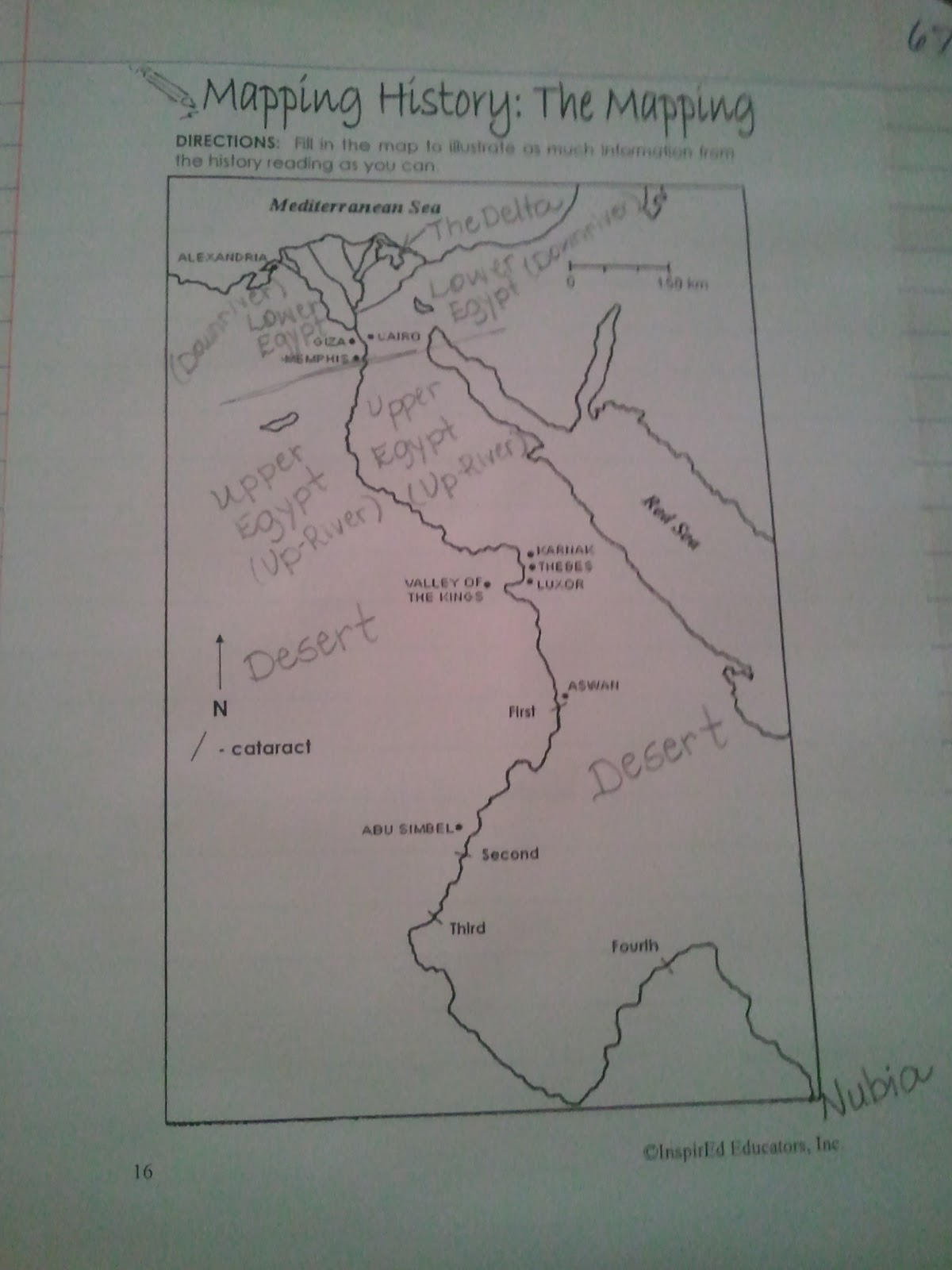 The Middle School Mouth Social Studies Interactive Notebooks - Map of egypt 6th grade